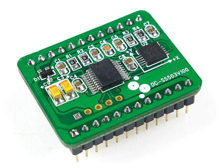 Dual-axis Magnetic Sensor Module with UART & I2c Interface Edition