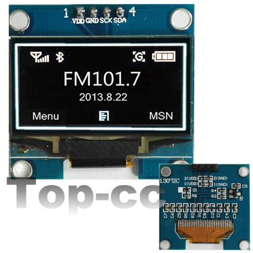Oled lcd module for arduino quot white iic i c serial