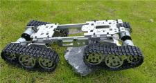 WZY569 Intelligence RC Tank Car Truck Robot chassis 393mm*206mm*84mm CNC Alloy body+4 Plastic tracks
