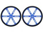 Wheel 90x10mm Pair - Blue