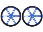 Wheel 80x10mm Pair - Blue