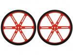 Wheel 90x10mm Pair - Red